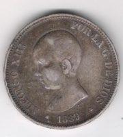 5 песет 1889 года