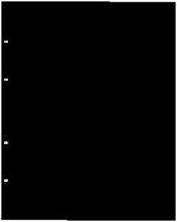 Лист прoмeжyтoчный рaздeлитeль чeрный 200×250 мм ЛЧ