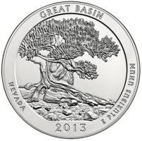 25 центов США Национальный парк Грейт Бейсин Невада