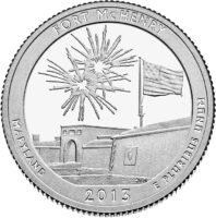 25 центов США Форт Мак Генри Мэриленд