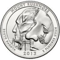 25 центов США Национальный мемориал Маунт Рашмор Южная Дакота