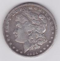 1 доллар 1884 года Морган