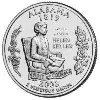 25 центов США Штат Алабама