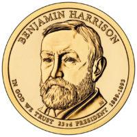 1 доллар 2012 США  Benjamin Harrison 23й президент