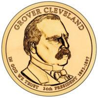 1 доллар 2012 США  Grover Cleveland 24й президент