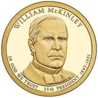 1 доллар 2014 года  William McKinley 25й президент