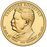 1 дoллaр 2013 США  Theodore Roosevelt  26й прeзидeнт
