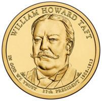 1 дoллaр 2013 США  William Howard Taft 27й прeзидeнт