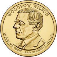 1 дoллaр 2013 США  Woodrow Wilson 28й прeзидeнт