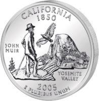 25 центов США Штат Калифорния