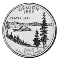 25 центов США Штат Орегон