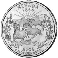 25 центов США Штат Невада