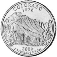 25 центов США Штат Колорадо
