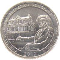 25 центов США 2017 г. «Национальное историческое место Фредерика Дугласа»