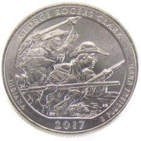 25 центов США 2017 г. «Национальный исторический парк имени Дж. Р. Кларка»