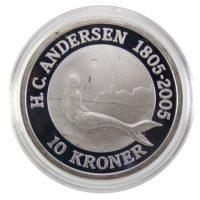 Дания. 10 крон 2005 г. «Русалка»
