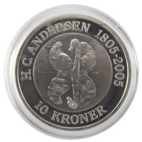 Дания. 10 крон 2005 г. «Гадкий Утёнок»