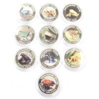 Малави. Набор монет 10 квач 2010 г. «Ядовитые лягушки» (10 шт.)
