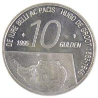 Нидерланды. 10 гульденов 1995 г. «300 лет со дня смерти Гуго Гроция»