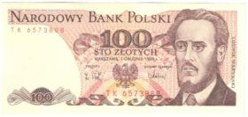 Польша. 100 злотых 1986 г.