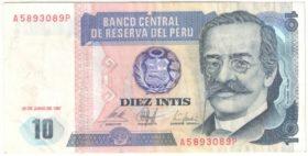 Перу. 10 инти 1987 г.