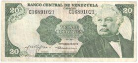 Венесуэла. 20 боливаров 1979 г.