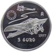 Испания. 5 евро 1997 г. «Авиация»