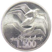 Сан-Марино. 500 лир 1975 г. «Любовь у животных»