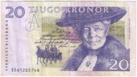 Швеция. 20 крон 1997-2008 гг.