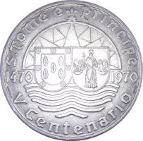 Сан-Томе и Принсипи. 50 эскудо 1970 г. «500 лет открытию Сан-Томе и Принсипи»