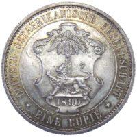 Германская Восточная Африка. 1 рупия 1890 г.