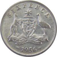 Австралия. 6 пенсов 1956 г.