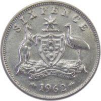 Австралия. 6 пенсов 1962 г.