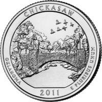 25 центов США Рекреационная зона Чикасо Оклахома