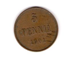 5 пенни 1901 года