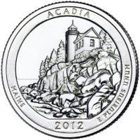 25 центов США Национальный парк Акадия Мэн