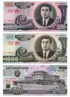 9 банкнот Северная Корея