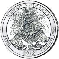 25 центов США Национальный парк Гавайские вулканы Гавайи