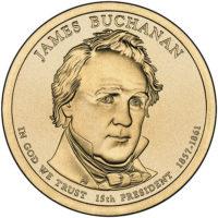 1 доллар 2010 США  James Buchanan 15й президент