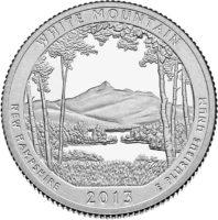 25 центов США Национальный лес Белые горы Нью Гэмпшир