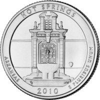 25 центов США Национальный парк Хот Спрингс Арканзас