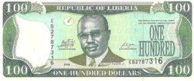 100 долларов Либерия