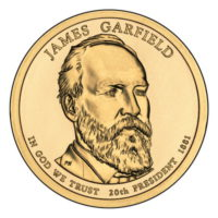 1 доллар 2011 США  James Garfield 20й президент