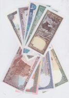 набор из 9 банкнот Ливан