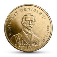 2 злотых 2013 года 200 летие с рождения Хиполита Цегельского