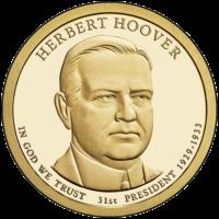1 доллар 2014 года Герберт Гувер 31 президент