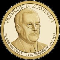 1 доллар 2014 года Франклин Рузвельт 32 президент