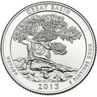 25 центов США Национальный парк Грейт Смоки Маунтинс Теннесси