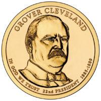1 доллар 2012 США  Grover Cleveland 22й президент
