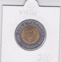 500 лир 1994 года 500 лет со дня рождения Луки Пачоли
